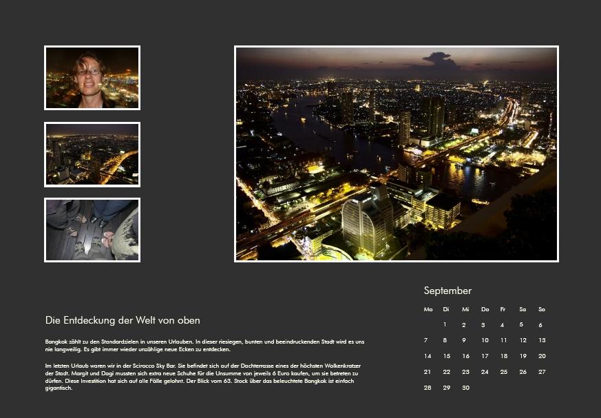 Ein Beispielbild für einen Kalender